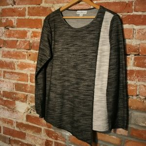 Windi River Cotten Blend Asymmetrical Long Sleeve